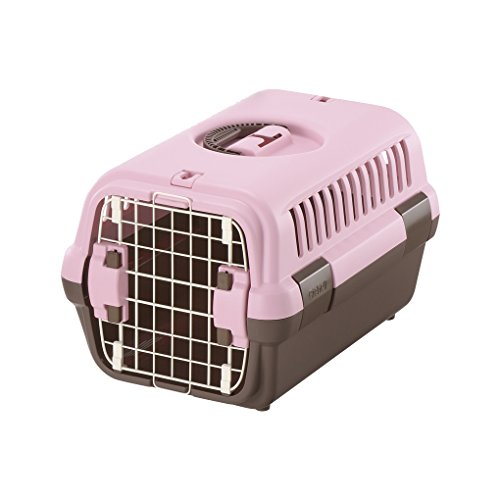リッチェル キャンピングキャリー 超小型犬・猫用 ライトピンク S サイズ