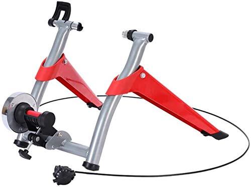 HBDITAN Entrenador de Bicicleta Indoor Trainer Bicicletas, Bicicletas Turbo Trainer Soporte, 6 Nivel de Resistencia Magnética, Cubierta Trainer Bicicletas for Bicicletas de Carretera y de montaña