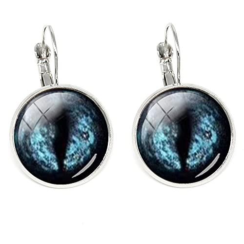 Pendientes de moda con ojos malvados para mujer, decoración de ojos de cristal, regalo minimalista