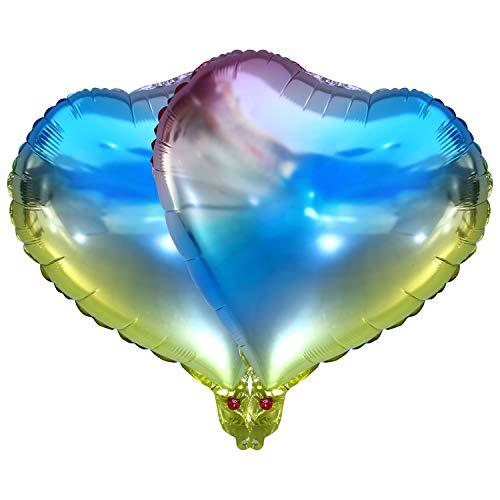 Siumir Globos en Forma de Corazón 25 cm Globos de Papel de Aluminio Arcoiris Gradient Globos Utilizado para Fiestas de Cumpleaños, Día de San Valentín, Decoración de Bodas