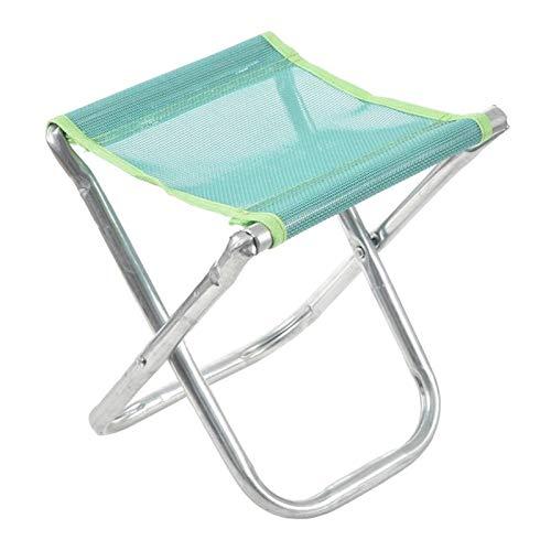 MissLi Silla Plegable De Aluminio Portátil Asiento De Taburete Pesca Al Aire Libre Camping Picnic Acolchado