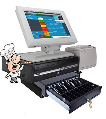 """15\"""" Kasse für Gastronomie (gebraucht): Kassen-Terminal, Bondrucker, Kassenlade mit Montagehalterung. GDPdU, GoBD, TSE - Konform"""