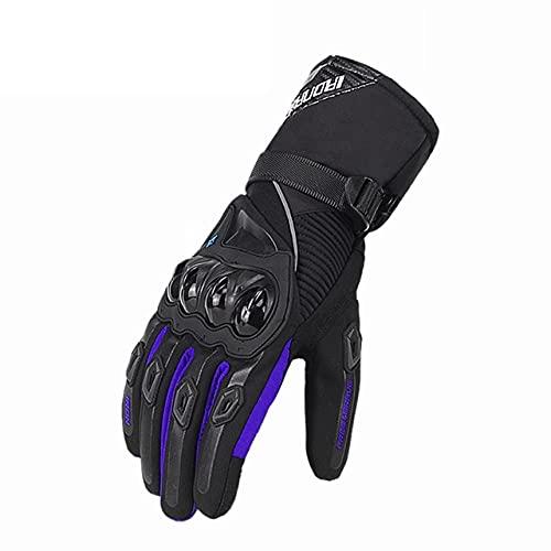 Guantes de Moto de Verano Transpirables Gant Moto de Malla para Hombre Guantes de Moto de Dedo Completo Guantes de Pantalla táctil Guantes de Montar en Moto-a139-M