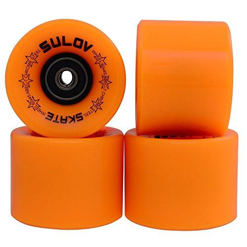 SULOV Penny Board ruote, Unisex, Penny Board Räder, arancione fluo, 60x45mm