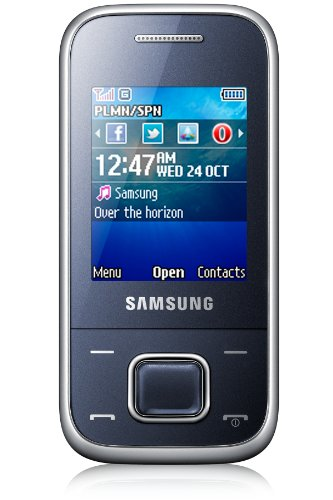 Samsung E2350 Unlocked GSM Quad Band Phone with 1.3MP Camera, Bluetooth, Radio and microSD Slot - Metallic Blue