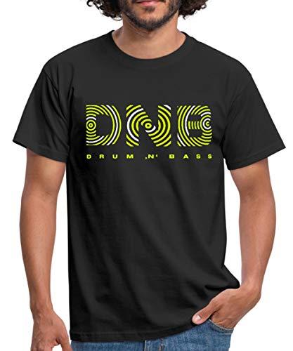 Drum and Bass DNB Männer T-Shirt, S, Schwarz