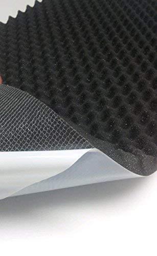 Akustikschaumstoff, Noppenschaumstoff, Dämmung (100cm x 50cm x h) Weiß o. Schwarz (100 x 50 x 5, Anth/Schwarz)