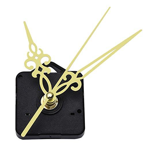 Mudder Quarz Uhrwerk Mechanismus Golden Zeiger Zifferblatte von Maximale 3/25 Zoll Dick,Gesamtschaft von 1/2 Zoll lang