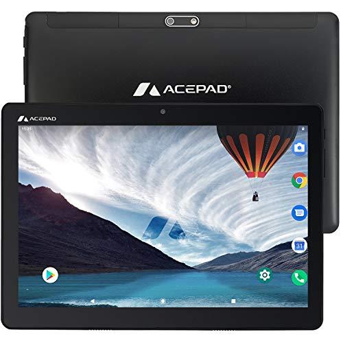 """ACEPAD A140 v2021 (10.1\"""") 4G LTE Tablet PC, 3 GB RAM, 64 GB interner Speicher, FHD 1920x1200, Octa Core, Android 9, Wi-Fi/Bluetooth, USB-C/microSD (Schwarz)"""