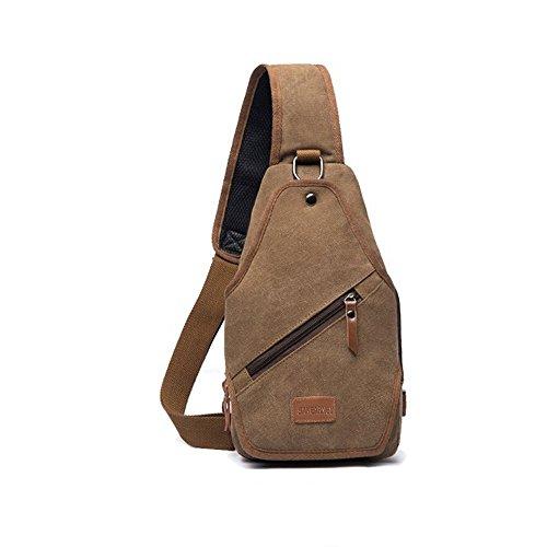SAKEARNEY Sling Bag backpack(Coffee)