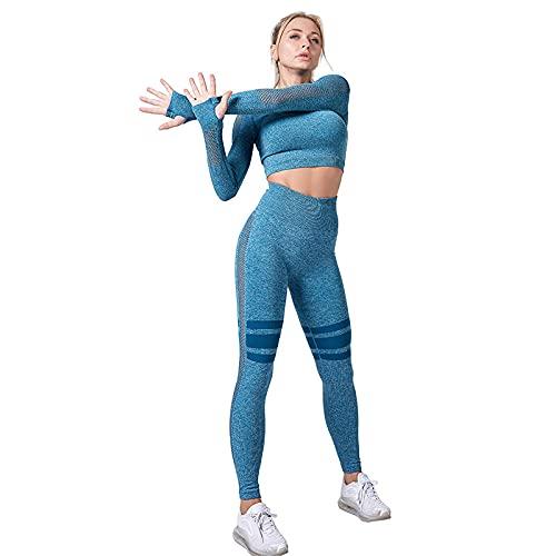 qqff Leggings Yoga Mujeres Gym Mallas Pantalones Elásticos,Ropa Yoga,señoras Funcionan con Traje Ajustado Secado rápido los Deportes,Verde Oscuro Traje Aptitud los Deportes,Gimnasio Fitness Traje