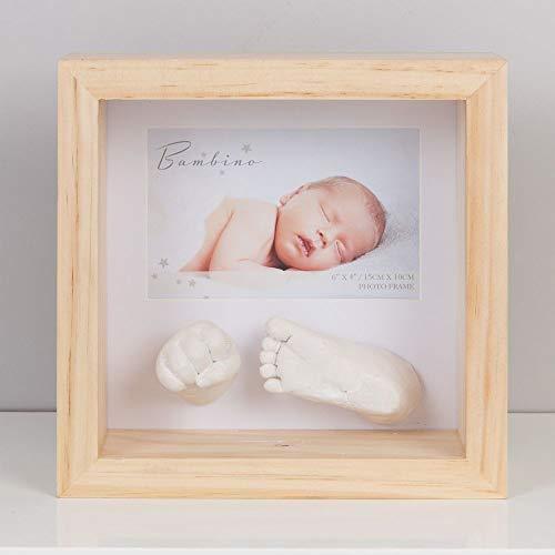 Der tolle Baby Bilderrahmen mit Hand und Fußabdruck