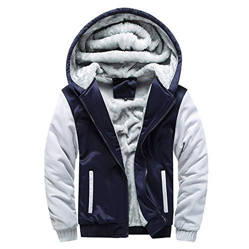 MAYOGO Männer Winter Outwear mit Kapuzen Fell, Hoodie Sweatshirt Herren mit Reißverschluss Weiche Warm gefüttert,Jacket Outwear Coat Parka Große Größen M-5XL