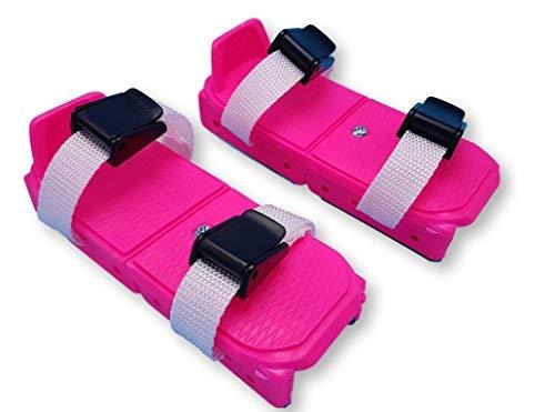 Linwood Bob Skates - Adjustable Strap on Two Runner ice Skates (Pink)