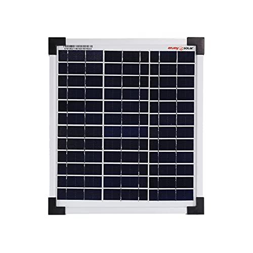 enjoy solar® Poly 12V 36V Polykristallin Solarpanel Solarzelle ideal für Wohnmobil, Gartenhäuse, Boot (10W)