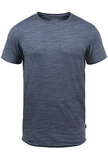 JACK & JONES Originals Elia Herren T-Shirt Kurzarm Shirt Mit Rundhalsausschnitt, Größe:S, Farbe:Vintage Indigo