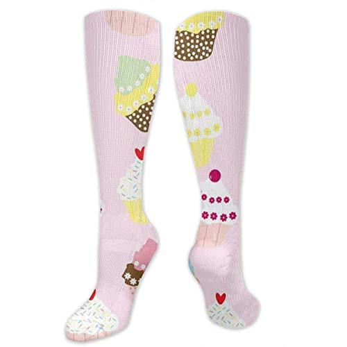 zhouyongz Cupcakes Herren-Socken mit buntem Muster, bunt, bunt