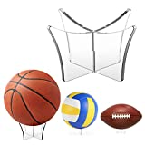 Support De Ballon De Football-Support Multifonctionnel En Acrylique Transparent Pour Support De Support De Ballon Pour Le Football,le Basket-ball,le Volley-ball,la Boule De Bowling,le Ballon De Rugby