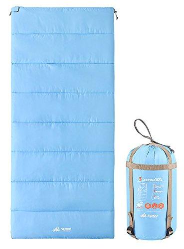 Semoo Sac de couchage couverture léger et compact idéal pour le printemps et l'été – 190 x 84 cm/1 kg – Bleu ciel