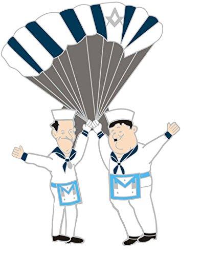 Masonic Freimaurer-Abzeichen Laurel & Hardy Fallschirm-Abzeichen