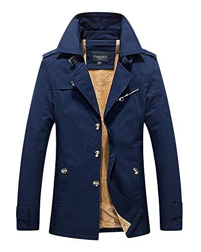 DianShaoA Uomo Signori Ragazzi Cappotto Trench Giacca Addensare Cappotti da Lavoro Classico Militare Jacket