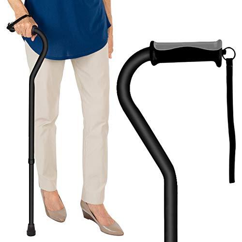 Vive Walking Cane - for Men & Women - Portable, Adjustable Offset Balance Stick...