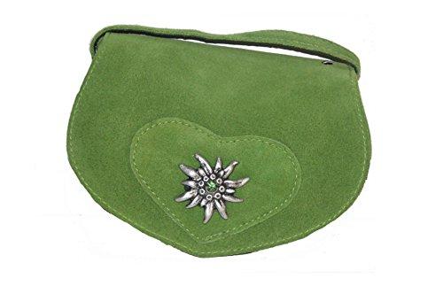 Kabe Damen Trachtentasche velour Farbe: hellgrün