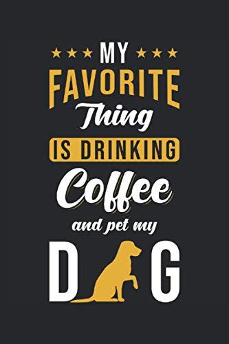 Notizbuch: Blanko Notizheft mit Kaffee und Hunde Cover | 120 linierte Seiten | Softcover | A5 Format | perfekt für Notizen, Texte, Aufzeichnungen etc.