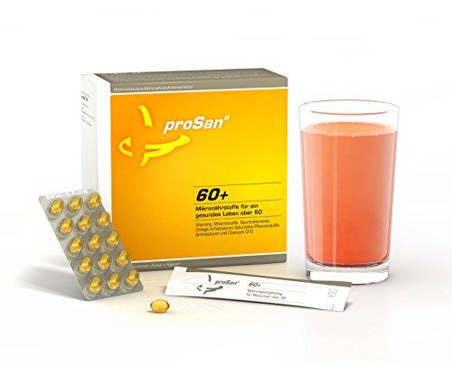 proSan® 60+ Komplette Nahrungsergänzung für Senioren über 60 - Geistig & körperlich fit bleiben - Vitamine, Mineralstoffe, Spurenelemente, Omega-3-Fettsäuren, Pflanzenstoffe, Aminosäuren & Coenzym Q10
