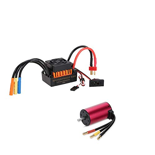 80T Dilwe RC Car Brushed Motor 27T 21T for 1//10 RC Car Truck 17T 45T 4 Poles Alloy 540 Sensorless Brushed Motor 17T
