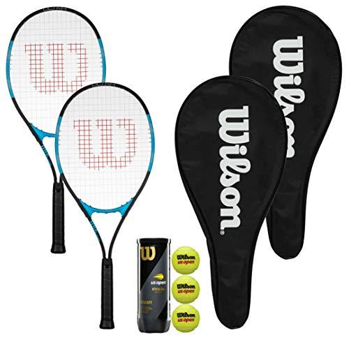 Wilson Ultra Excel 112 - Raquetas de tenis con 2 fundas de raqueta de longitud completa y 3 pelotas de tenis abiertas