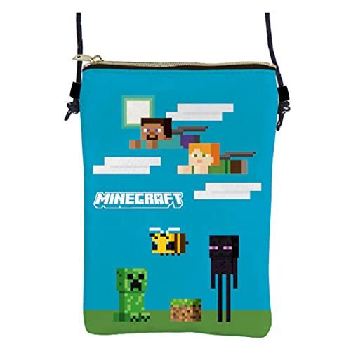 ケイカンパニー Minecraft 縦型ネックポーチ ブルー MCT-TN-BL