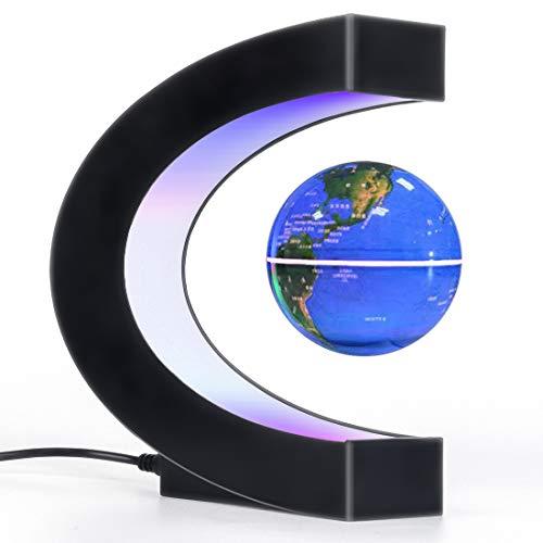 Magnetic Levitation Floating Globe with LED Light, Desk Gadget Decor, Fixture Floating Globes &...