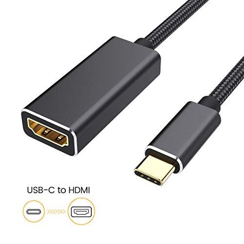 Cableader USB C to HDMI 4k@30Hz,typ-c zu hdmi Adapter,Typ C auf HDMI Konverter Kompatibel für MacBook/MacBook pro/iMac/iMac pro/Dell/ASUS/HP/New Chromebook/Huawei/Samsung und mehr