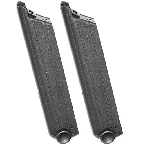 Airsoft Gear Parts Accessories WE 2pcs 15rd Gas Magazine for Armorer Works A180 Blaster WE P08 Luger GBB Pistol Black
