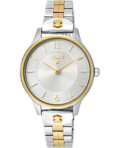 TOUS Reloj Mujer Osier IPRG ESF Silver Brazalete Esterilla- Ref 100350425