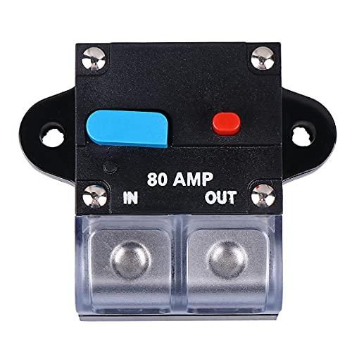 VICASKY Interruptor de Circuito Amp 80A Interruptor de Circuito Rearmable para Coche Fusible de Recuperación Automática Botón de Reinicio Manual Interruptor de Circuito Accesorios para El