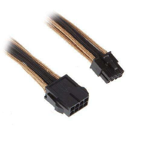 BitFenix EPS (8-pin) - EPS (8-pin), 0.45m - cables électriques (0.45m, Mâle/Femelle, EPS (8-pin), EPS (8-pin), Noir, Or)