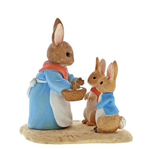Beatrix Potter Mrs Lapin, Flopsy et Peter figurine, résine, coloré, 5 x 7 x 7 cm