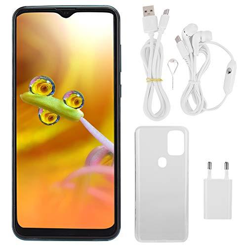Móvil 6,7 pulgadas MIQOO S20 6 + 64G Dual Card Smartphone Android 9.1, Drop Screen Fingerprint Face Unlock/GPS, con tarjeta de memoria 128G, 4800 mAh, verde (EU 110-240 V)