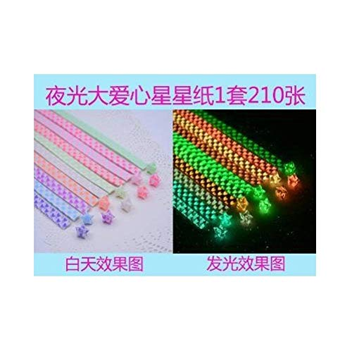 Meteorschauer-Duft fluoreszierendes, farbenfrohes Origami-Papier mit leuchtenden Sternen-A2