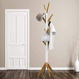 HS-Lighting – Porte-manteau en bois avec 8 crochets en bambou 178,5 cm.