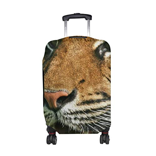 Tiger Predator Jaws Teeth Pattern Print Travel Luggage Protector Baggage Suitcase Cover Fits 18-21 Inch Luggage