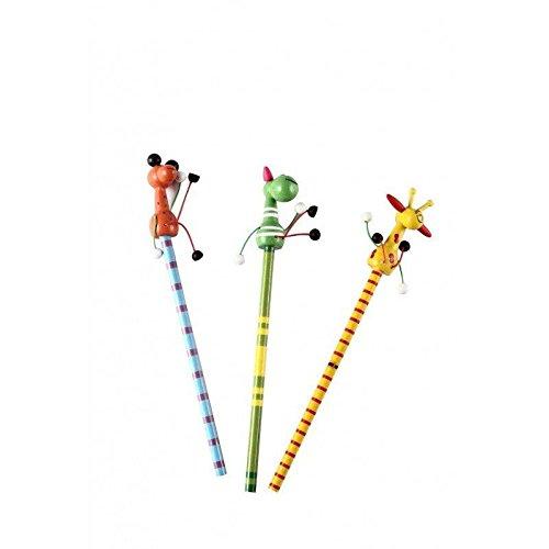 """Lápiz De Madera""""New Animals"""" - Lapices para niños, colegios, fiestas de cumpleaños, detalles Comuniones - Lapiceros, lápices baratos y Originales, Divertidos para Detalles de Bodas, Bautizos"""