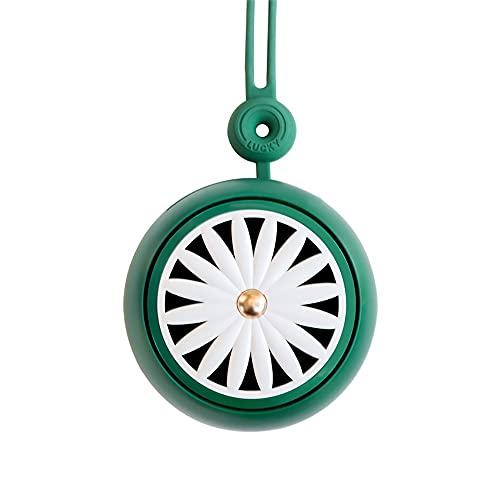 Ventilador de Cuello Portátil,Mini Ventilador,Ventilador de Cuello Portátil Recargable de 3 Velocidades, Ventilador de Escritorio,para Deportes al Aire Libre,Oficina (Color : Green)