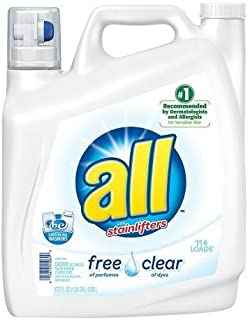 All Free & Clear Liquid Laundry Detergent 162 Oz by all