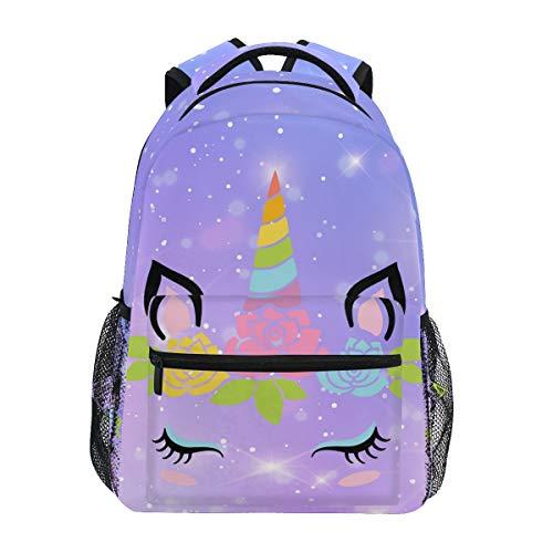 Backpack School Bookbag for Boys Girls Elementary School Cute Unicorn 2021655