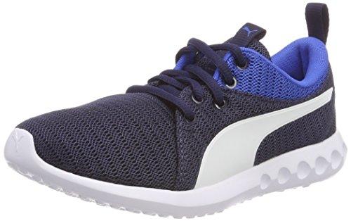 Puma Carson 2 Jr, Scarpe da Fitness Unisex-Bambini, Blu (Peacoat-Strong Blue White 10), 38.5 EU