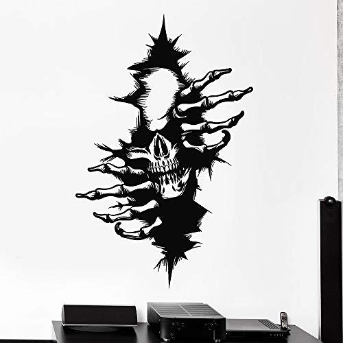 Calcomanía de hueso de calavera estilo de terror oscuro casa embrujada ventana pegatina de vinilo chico adolescente dormitorio hombre cueva fiesta decoración del hogar