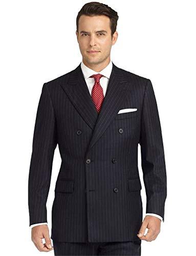 P&G Men's Stripe Two Pieces Suit PeakLapel Slim...